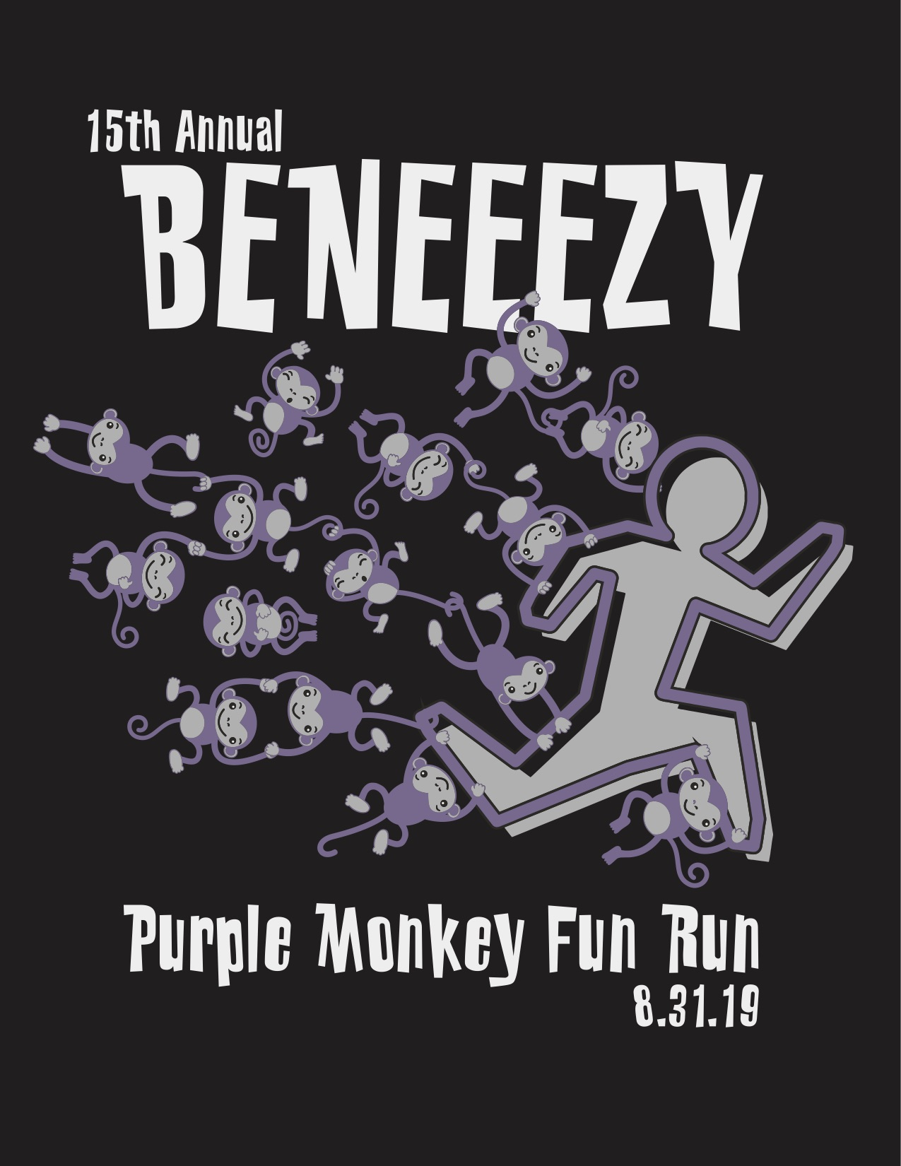 15th Annual Beneezy Purple Monkey Fun Run